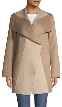 T Tahari Long-Sleeve Wool-Blend Jacket
