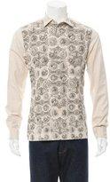 Dolce & Gabbana Historic Print Button-Up Shirt w/ Tags