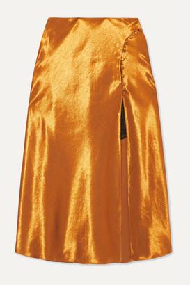 Jonathan Simkhai Satin Midi Skirt - Gold