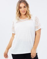 Junarose Embroidered Short Sleeve Blouse