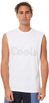 Barney Cools Cools Mens Muscle White