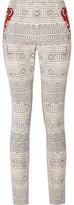 Camilla Printed Ponte Slim-Leg Pants