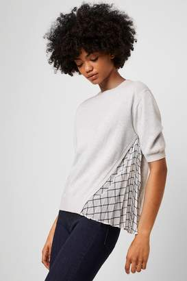 French Connection Kesia Shirt Mix Short Sleeve Jumper