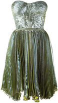 Maria Lucia Hohan Loliambrosia pleated bandeau dress - women - Silk/Nylon/Polyester/Spandex/Elastane - 38