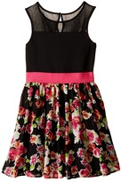 Us Angels Sleeveless Illusion w/ Chiffon Full Skirt (Big Kids)