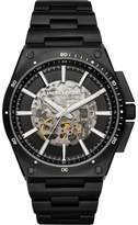 Michael Kors MK9023 Black IP Stainless Steel Skeleton Black Dial Automatic 44mm Men