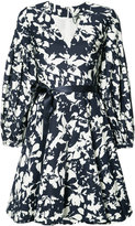 Alexis blossom print flared dress - women - Polyester - L