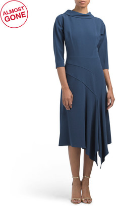 Roll Neck Crepe Dress