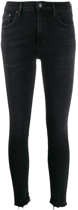A Gold E Agolde Sophie mid-rise skinny jeans