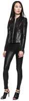 LAMARQUE - Valerie Striped Leather Jacket In Black