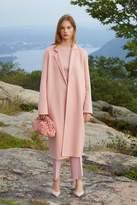 Mansur Gavriel Cashmere Narrow Buttonless Coat - Blush