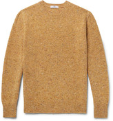 Inis Meáin - Donegal Mélange Merino Wool Sweater - Mustard