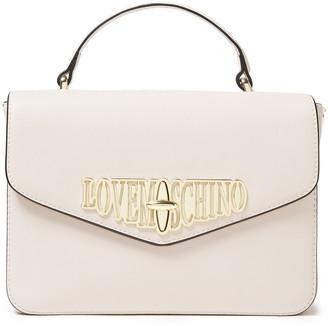 Love Moschino Logo-embellished Faux Leather Shoulder Bag