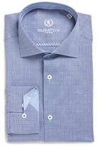 Bugatchi Men's Trim Fit Check Dress Shirt
