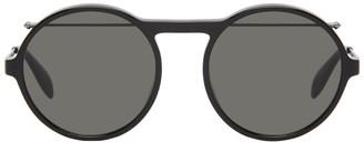 Alexander McQueen Black Round Sunglasses