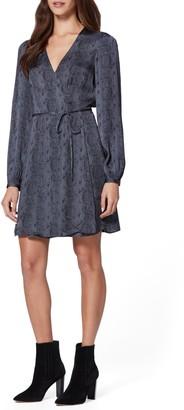 Paige Garance Snake Print Long Sleeve Dress