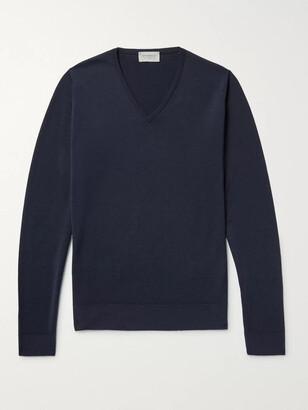 John Smedley Blenheim Melange Merino Wool Sweater