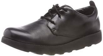 Clarks Boys' Crown London Low-Top Sneakers, Black (Black Leather)
