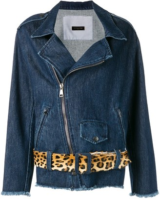 Simonetta Ravizza Denim Biker Jacket