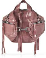 McQ Dirty Pink Waxed Leather Mini Convertible Holdall