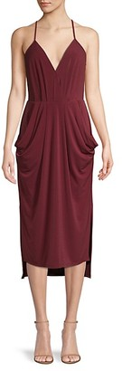 BCBGeneration Draped V-Neck Cocktail Dress