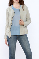 Ecru Grey Suede Jacket
