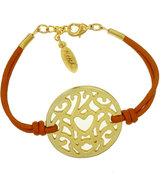 Heart Lace Coin Bracelet