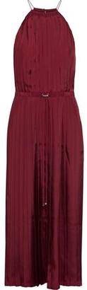 Tibi Pleated Satin-twill Midi Dress