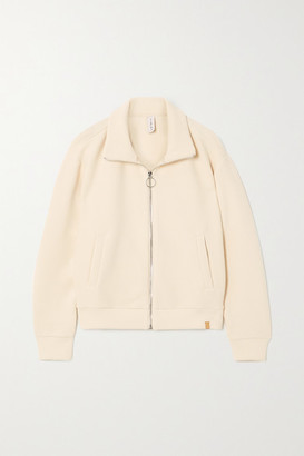 Varley Bloomwood Ribbed Cotton-blend Jacket - Off-white