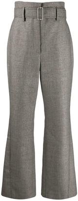 Peter Pilotto kick-flare tweed trousers