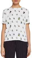 Ted Baker Colour by Numbers Idel Fly Fish Pleat-Back Top