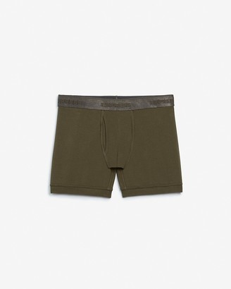 Express Olive Metallic Waistband Boxer Briefs
