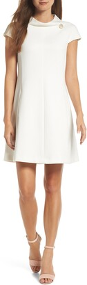 Harper Rose Stand Collar A-Line Dress