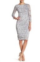 Eliza J Sequined Lace Dress