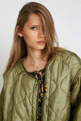 Urban Renewal Vintage Army Liner Jacket - green at Urban Outfitters