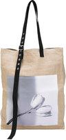 Raf Simons - large photographic tote bag - men - Hemp - One Size