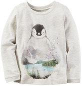 Carter's Long-Sleeve Penguin Graphic Tee