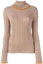 MSGM flared longsleeved ribbed pullover