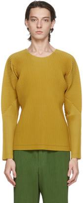 Homme Plissé Issey Miyake Yellow A-POC Long Sleeve T-Shirt