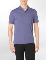 Calvin Klein Classic Fit Liquid Cotton Striped Polo Shirt