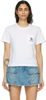 RED Valentino White Flower Pocket T-Shirt