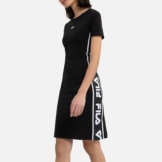 Fila Taniel Cotton Mix Mini Dress with Logo and Short Sleeves