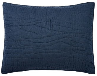Pottery Barn Belgian Flax Linen Handcrafted Quilted Sham
