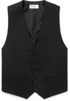 Saint Laurent Black Slim-Fit Wool Waistcoat