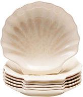 Certified International Coastal Moonlight Melamine Set of 6 Shell Plates