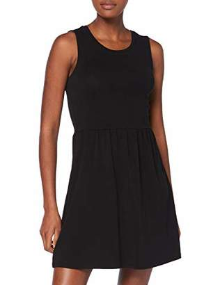 Only Women's Onlniellaanne S/l Back Open Dress Box Black, 8 (Size: X-Small)