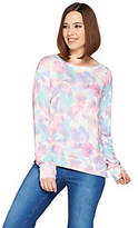 Peace Love World Long Sleeve Comfy Knit ScoopNeck Top