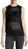 Rag & Bone Shea Mesh Vest, Black
