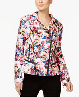INC International Concepts Printed Faux-Leather Jacket, Only at Macy's