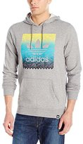adidas Mens Skateboarding Scratch Grid Blackbird Hoodie
